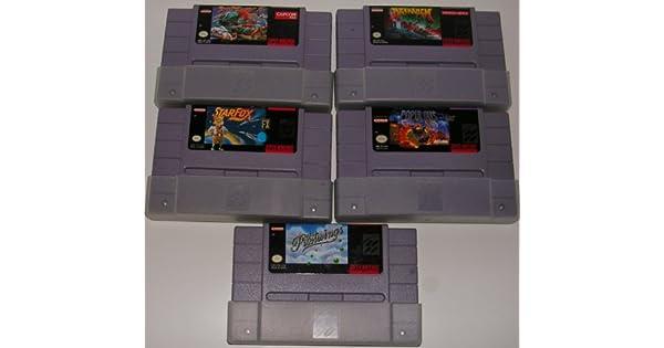 Amazon.com: Super Nintendo 5 Game Bundle - Includes: Pilotwings, StarFox, Street Fighter II, Populous, Drakkhen: Video Games