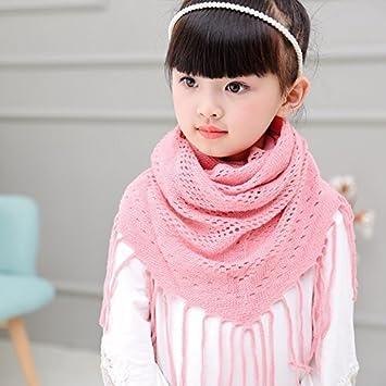 894713ff1af DEED Écharpe pour Enfants Automne et Hiver Filles Écharpe pour garçons et  Filles Écharpe tricotée et