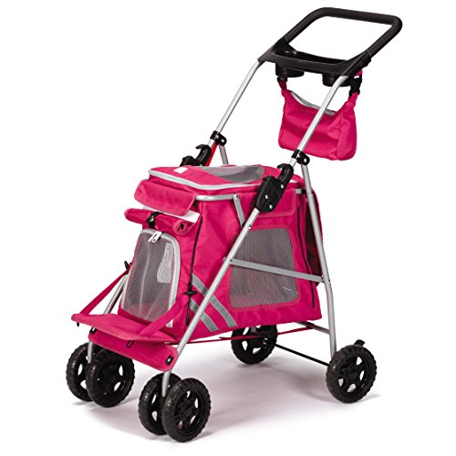 Guardian Gear Classic II Stroller for Dogs and Cats, Magenta