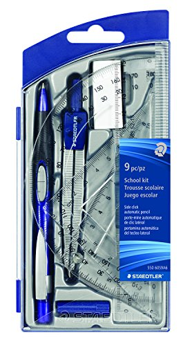 Staedtler Plastic Compass - STAEDTLER Math Set for Drawing Measuring Tool (550 60S9A6)