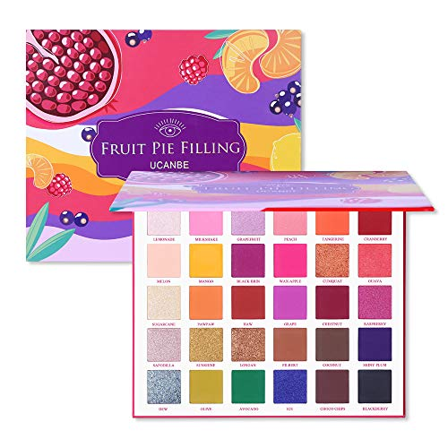 UCANBE 30 Colors Eyeshadow Makeup Palette, High Pigmented Shimmer Matte Glitter Metallic Neutral Dramatic Smooth Blendable Long Lasting Eyes Shadow Make Up Pallet Set