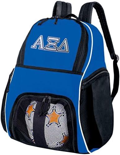 サッカーボールバックパックAZD Alpha Xi Delta Sororityバレーボールバッグ旅行Practice