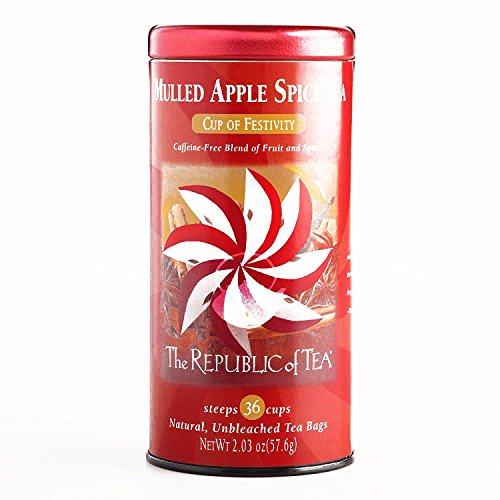 The Republic Of Tea Mulled Apple Spice Tea, 36-Count, 2.03 oz each