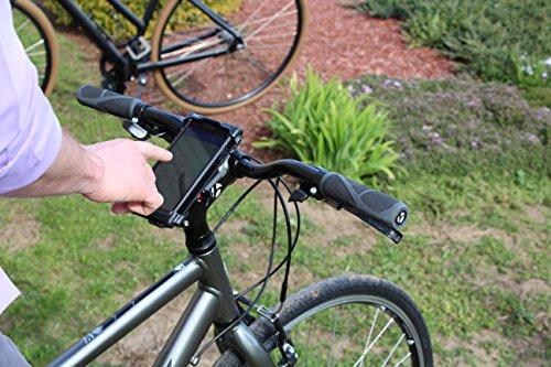 Delta Smart teléfono móvil soporte de manillar de bicicleta para pantalla plana para iPhone Android Samsung HTC impermeable, Unisex, negro: Amazon.es: ...