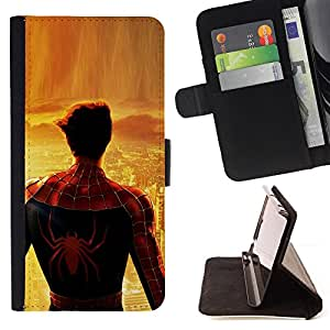 /Skull Market/ - SPIDER SUPERHERO CITY For Sony Xperia Z1 L39 - Caja de la carpeta del tir???¡¯???€????€??????????&f