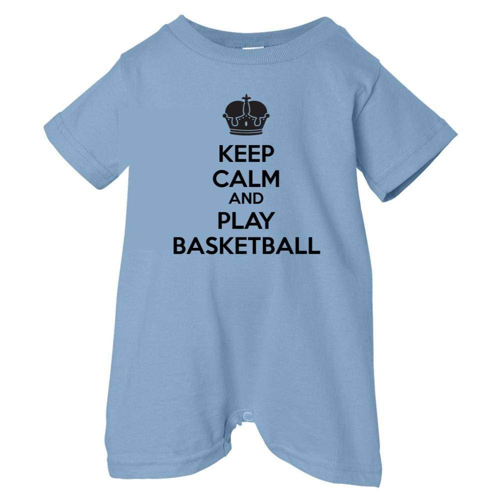 Mashed Clothing Unisex Baby Keep Calm And Play Basketball T-Shirt Romper