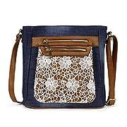 Amazon Lightning Deal 60% claimed: Scarleton Fashion Denim Crossbody Bag H174007 - Blue