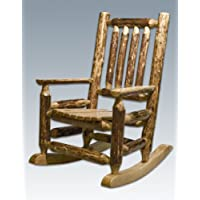 Montana Woodworks Glacier Country Collection Childrens Log Rocker