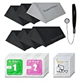 LS Photography (6 PCS.) 6'' x 7'' SuperFiber Lens Cleaning Cloth Camera Accessory, Lens Cap Holder, Cleaning Wipes, LGG338