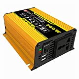 GUOXIN Power inverter 12V to 240V 300W Converter Adapter with Dual USB 4.2A and Cigarette Lighter