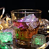 Flashing led ice cubes, party lights, slow changing color, Multicolor,12PCS
