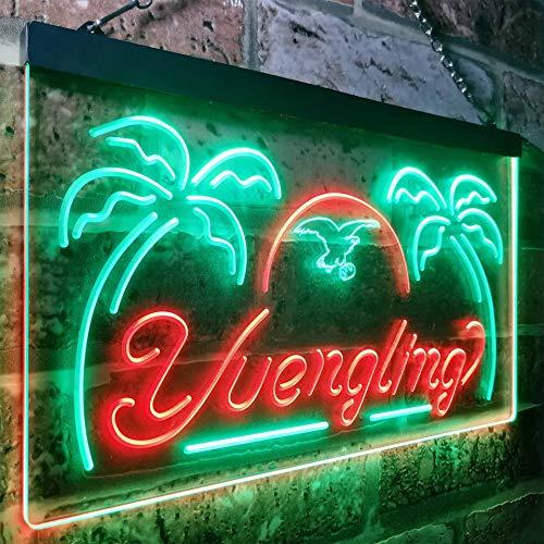 zusme Larger Yuengling Lager Eagle Beer Bar Novelty LED Neon Sign Green + Red W16 x H12