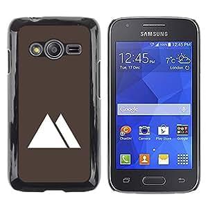 Shell-Star Arte & diseño plástico duro Fundas Cover Cubre Hard Case Cover para Samsung Galaxy Ace4 / Galaxy Ace 4 LTE / SM-G313F ( Pyramids Egypt Minimalist Brown )