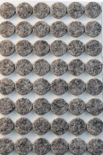 48 Pieces Grey Self Adhesive Felt Bumpers ()