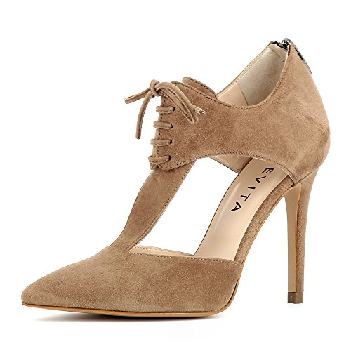 caño medio Mujer ShoesALINA Evita marrón fnqg6SZg