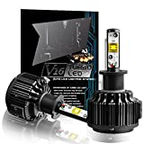 Automotive : CougarMotor H3 LED Headlight Bulbs All-in-One Conversion Kit,7200 Lumen (6000K Cool White)