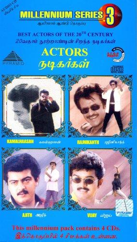 Best of Actors-Kamalhaasan,Rajnikanth,Ajith,Vijay-Tamil(4 CD Set)