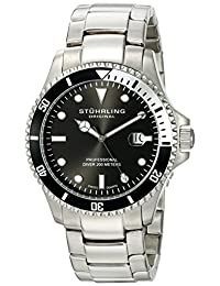 Stuhrling Original Men's Aquadiver Regatta Elite Swiss Quartz Diver Date Watch 326B.331113