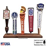 Beer Tap Display Stand - Reclaimed Redwood, Hand
