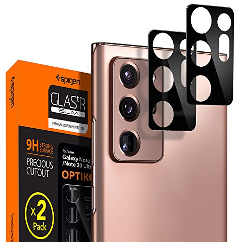 🥇 Spigen Camera lens Screen Protector [Glas.tR Optik] Tempered Glass designed for Galaxy Note 20 Ultra [2 Pack] – Case Friendly