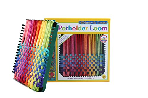 Harrisville-Designs-7-Potholder-Traditional-Size-Loom-Kit-Makes-2-Potholders