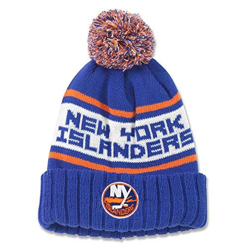 acb45960f38 American Needle New York Islanders Pillow Line Cuffed Pom Knit Hat Beanie