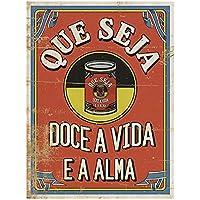 Placa Decorativa Litoarte Vermelho Pacote de 4