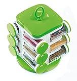 Jony Multipurpose Revolving Spice Rack 12 Piece Condiment Set - Green