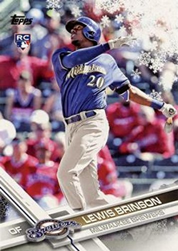 2017 Topps Holiday Megabox Snowflake #HMW82 Lewis Brinson Milwaukee Brewers NM-MT