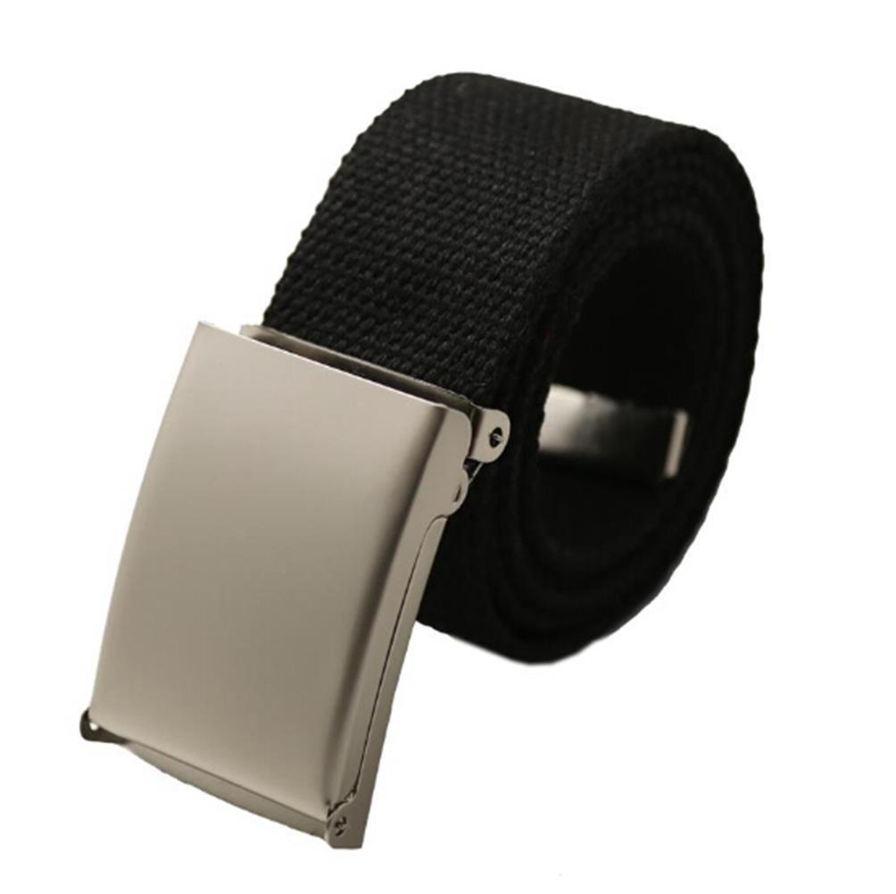 Maikun Men's Tactical Belt Metal Buclkle Solid Color Canvas Belt Canvas Belt Metal Buckle-P