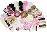 station Baby Shower Games Party Supplies Headband Kit - Fashion Headband Kit - DIY Headband Maker Kit - Make 32 Headbands and 5 Clips - Baby Shower Headband Station Kit - DIY Hair Bow Kit - Vintage Collection