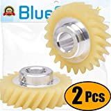 Ultra Durable W10112253 Mixer Worm Gear Replacement Part by Blue Stars – Exact Fit For Whirlpool & Kenmore Mixers - Replaces 4162897 4169830 - PACK OF 2