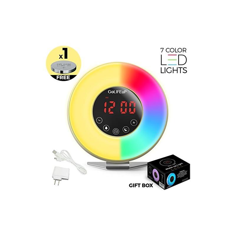 Alarm Clock Radio Digital Sunrise and Su