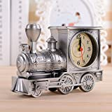 Make You Happy Locomotive Silent Alarm Clock,Vintage Children Kids Students Locomotive Alarm Clock