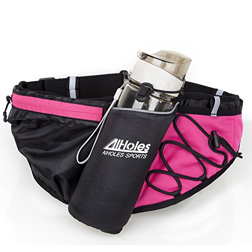 Price comparison product image AIHOLESPREMIUM QUALITYOutdoor Water Resistant Hydration Running Waist Pack Bag with Water Bottle (Not Included) Holder,Fits Large Smartphones,Iphone 6 Plus with OtterBox