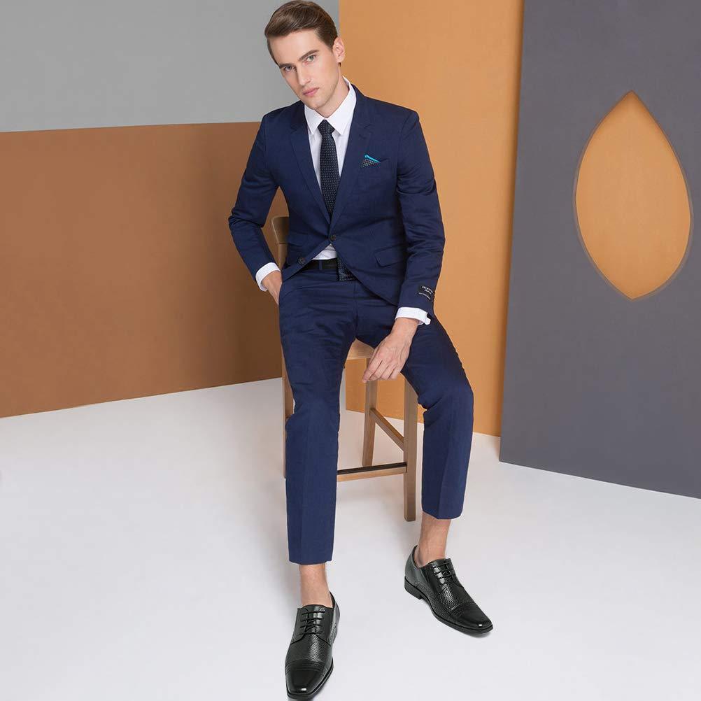 CHAMARIPA Chaussure rehaussante Homme en Cuir Chaussures de Travail des ascenseurs int/érieurs de Hauteur 7cm Chaussures de Ville /à Lacets Oxford