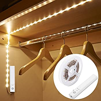 Luxjet Motion Sensor Closet Lights Flexible Led Strip Kit With Motion Activated Rope Light For