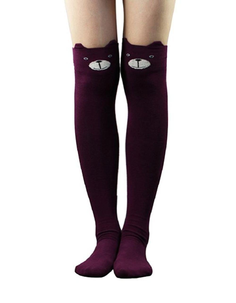 Women Catoon Socks! Cat Catoon Socks Long Stockings Over Knee High Sock