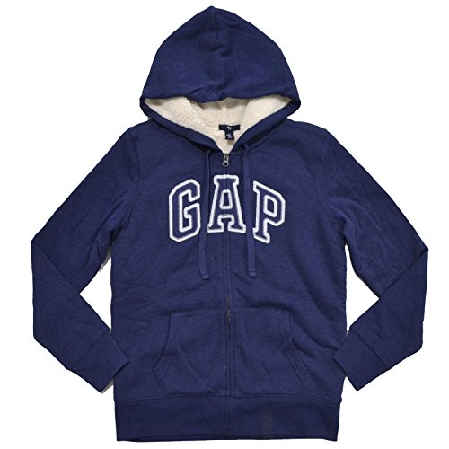 gap-womens-faux-fur-lined-full-zip-hoodie-sweatshirt-large-navy-blue