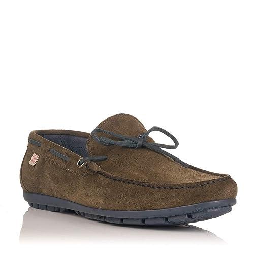 Zapatos De Sport Mocasines Crab 93702 Kaki: Amazon.es: Zapatos y complementos