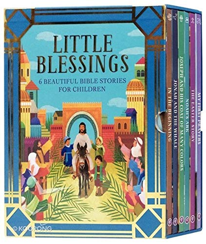 Little Blessings 6 Beautiful Bible Stories For Children Ages 2-6: In The Beginning, Jonah ans the Whale, Joseph and His Coat of Many Colors, Noah's Ark, The Easter Story, My First Prayers.]()