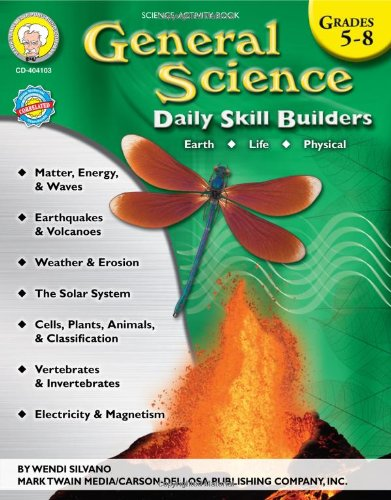 General Science, Grades 5 - 8 (Daily Skill Builders) (Teacher 8 Book Grade)