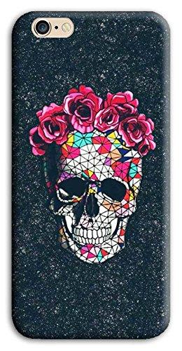 Mixroom - Cover Custodia Case In TPU Silicone Morbida Per Apple Iphone 5 5s M589 Teschio Con Cappello Di Rose