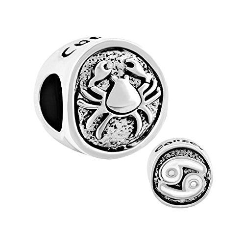 LovelyJewelry Lucky Cancer Horoscope Zodiac European Charm Beads For Bracelets