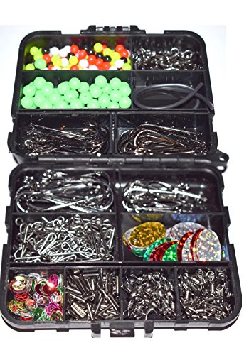597 piece Boxed Sea Fishing Tackle Set in Tackle with hooks, swivels, crimps, clips, attractors