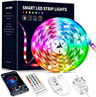 Beaeet LED Strip Lights 10m,Bluetooth APP and Remote Control Colour Changing Music Sync Strips Lights,Flexible LED Lights...