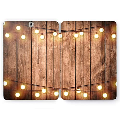 Wonder Wild Wooden Party Samsung Galaxy Tab S4 S2 S3 Smart Stand Case 2015 2016 2017 2018 Tablet Cover 8 9.6 9.7 10 10.1 10.5 Inch Design Retro Lights Carpenter Woodworker Vintage Look Evening New