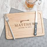 Wooden BBQ Cutting Board/Grilling Gifts For Men/Personalized Cooking Gifts For Men/James Bond Licensed To Grill