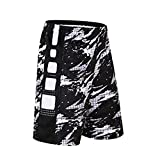 iKRR Men's Mesh Short With Pockets Basketball Shorts Athletic Loose Trainning Workout Shorts (XX-Large, 129White)