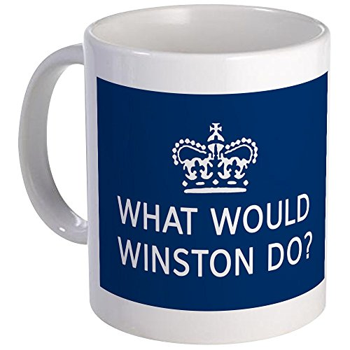 CafePress - What Would Winston Do? Mug - Unique Coffee Mug, Coffee Cup (Churchill Mug Winston)